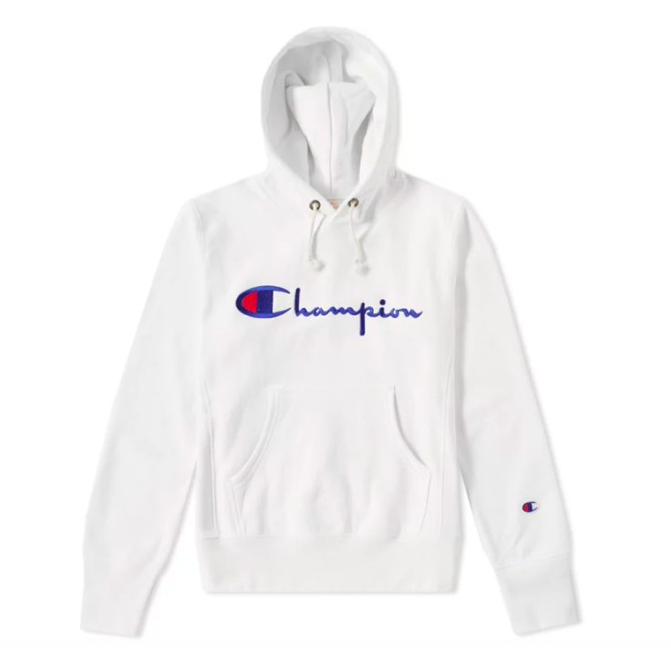 949ed3d3 Champion Reverse Weave Logo Script Hoodie - White in 2019 | Champion ...