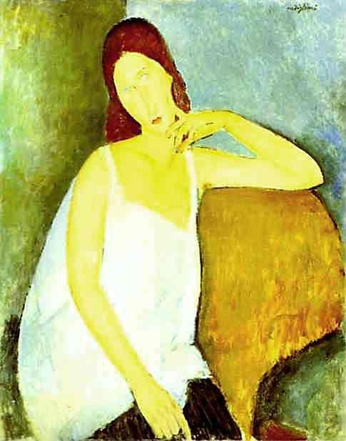 Portrait of Jeanne Hebuterne, 1918 - Amedeo Modigliani