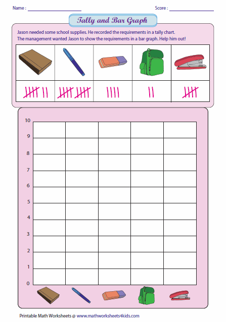 Reading Tally and Drawing Bar Graph | Learning | Bar graph template ...
