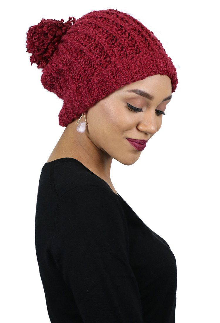 Winter Hats for Women CC Beanie Slouchy Pom Pom Hat. Also great for chemo  patients and chemo headwear.  ccbeanie  pompombeanie  slouchybeanie 3ec6ee4b815