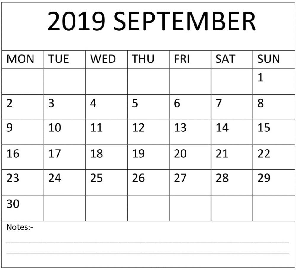 Pin by Freelatest Calendar on September 2019 Calendar