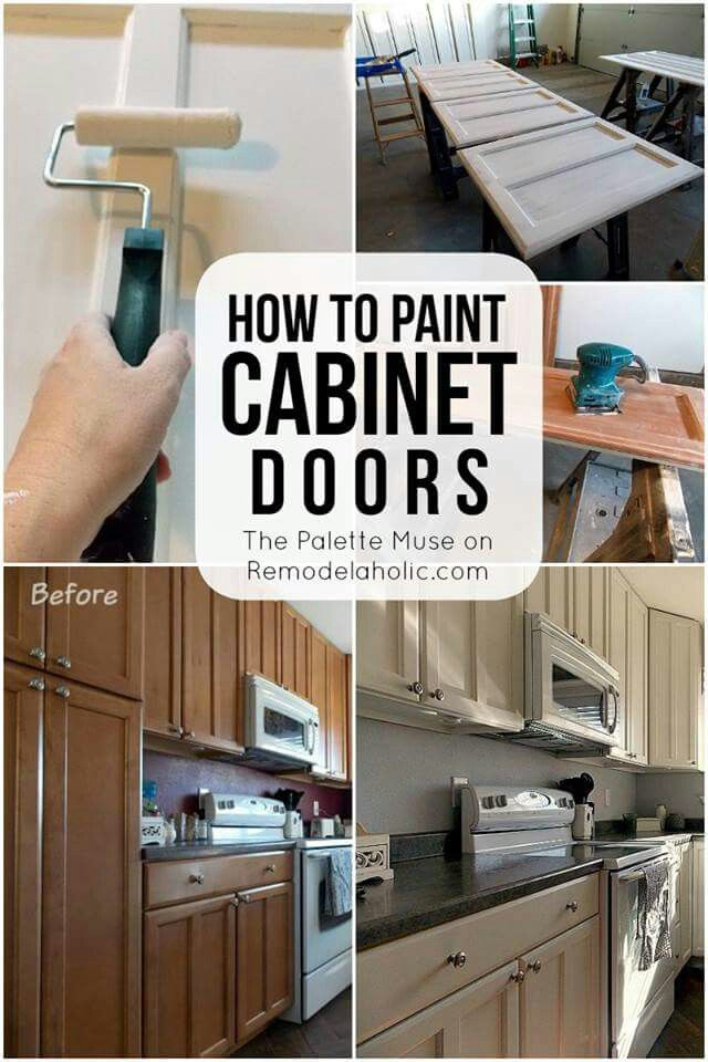 How To Paint Cabinet Doors  Paint Ideas  Pinterest  Doors Inspiration Cleaning Kitchen Cabinet Doors Design Inspiration