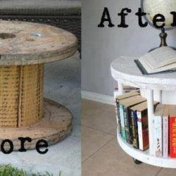 DIY Cable Spool Coffee Table #cablespooltables diy cable spool table #cablespooltables
