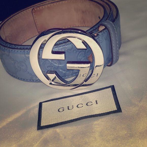 I just added this listing on Poshmark GUCCI Guccissima Interlocking G Belt 90 36 Blue