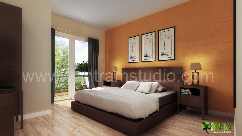 3D #Interior #Designer Classic Elegant Bedroom #Design and Animation by YantramStudio.com