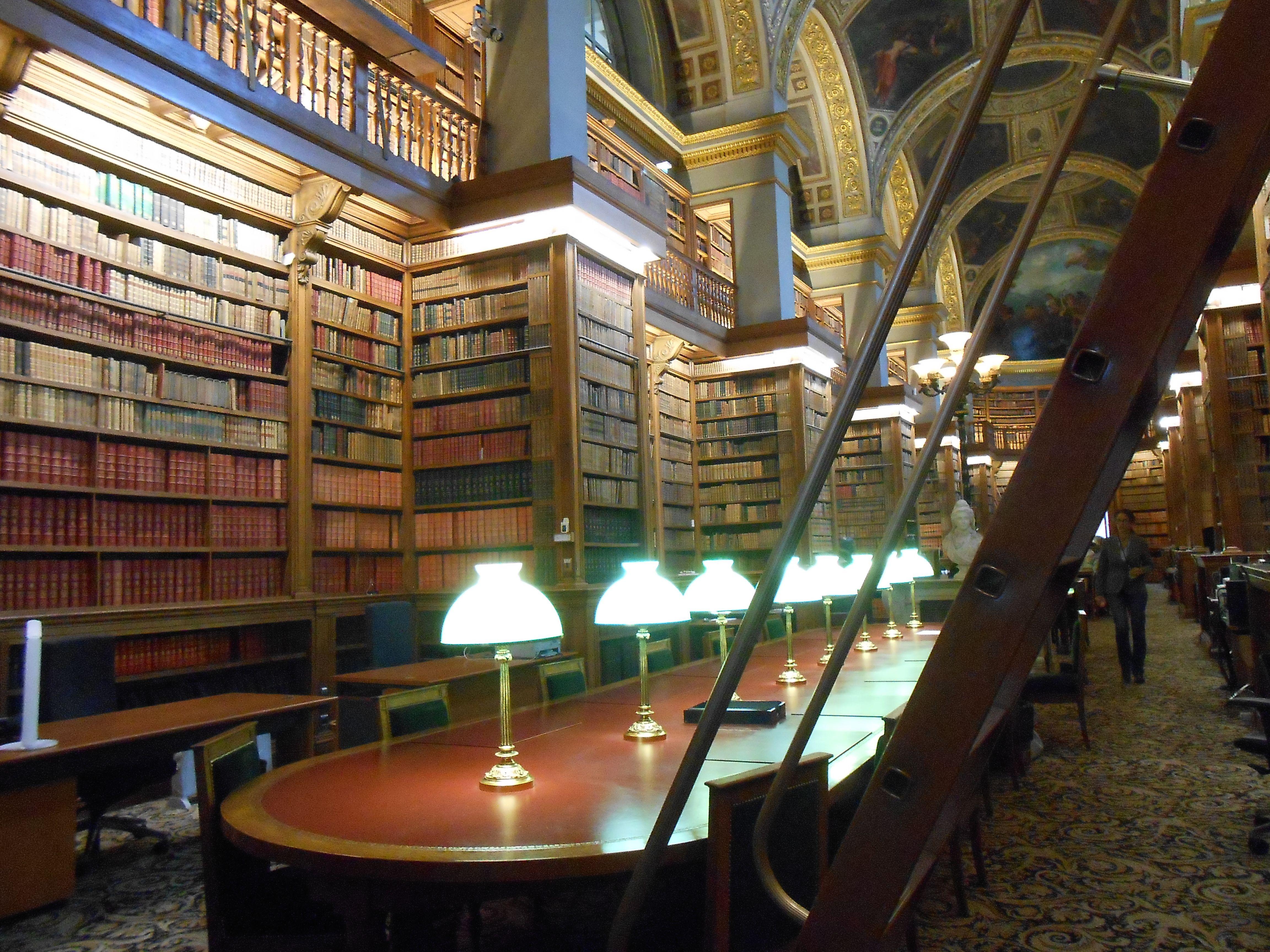 Bibliothèque du Sénat à Paris.