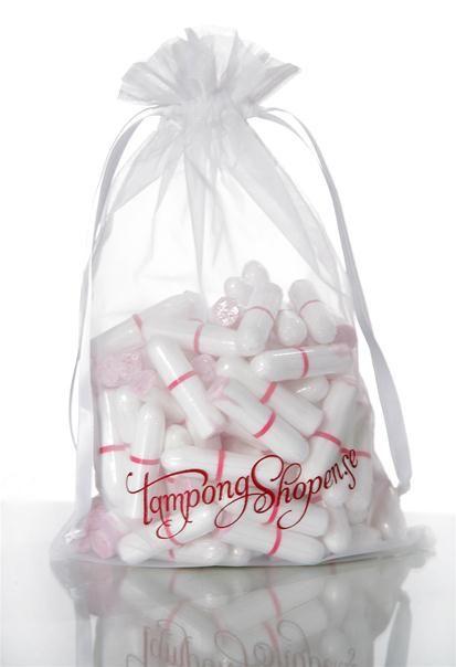 50 Mixade Tamponger i Tygpåse - Mix av 50 tamponger i tre storlekar i samma påse. Praktiskt!