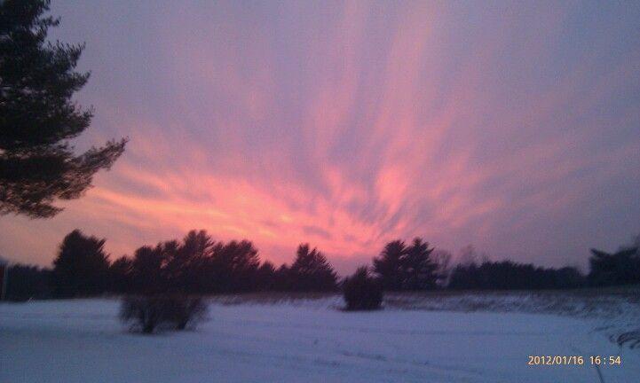 Sunset after a winter storm!!