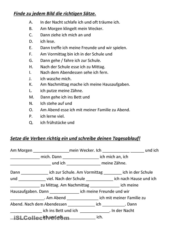 Mein Tagesablauf | German, German language and Language
