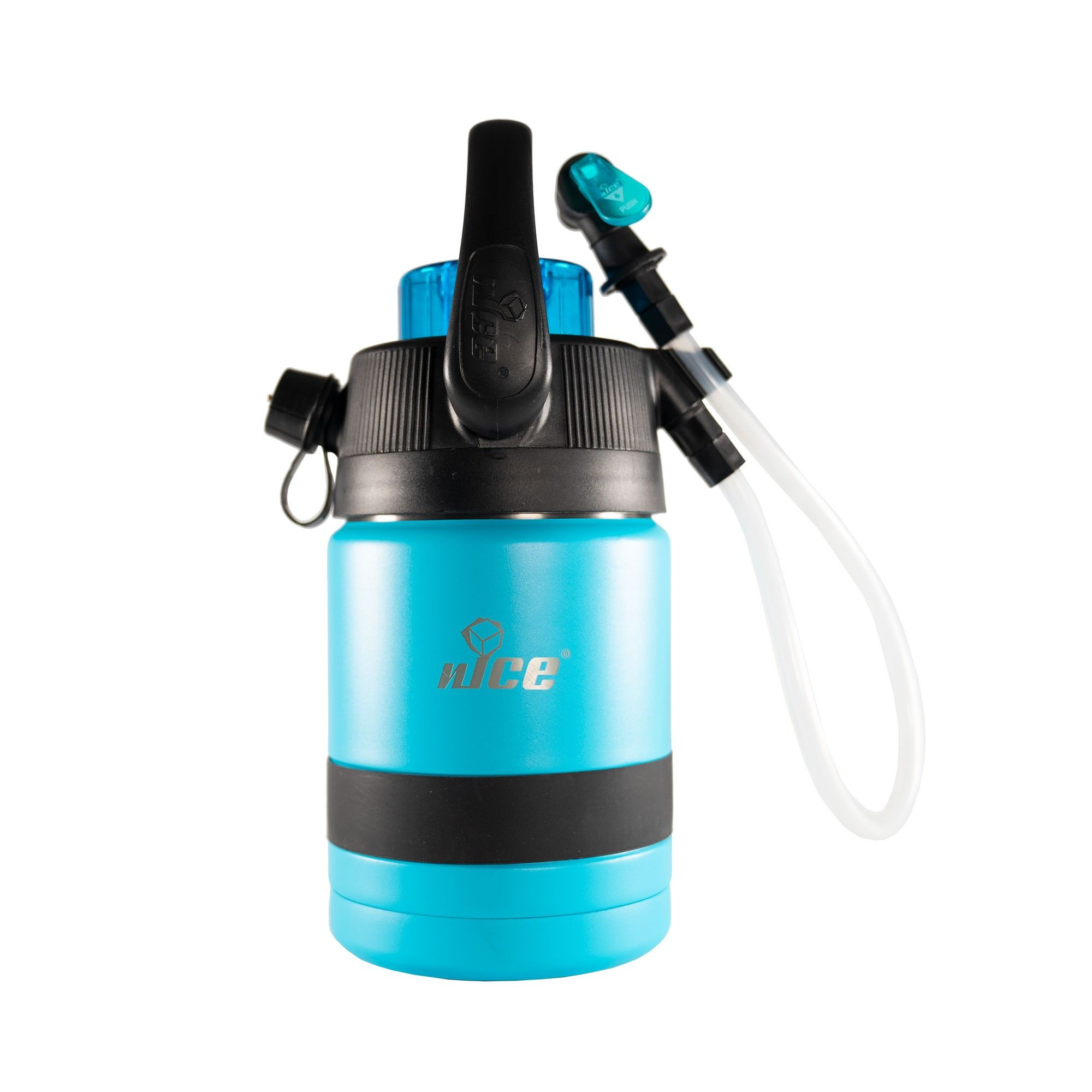 Nice Coolers Pump2pour 1 2 Gallon Insulated Jug With Hose And Spout Miami Blue Gallon Spout Jugs