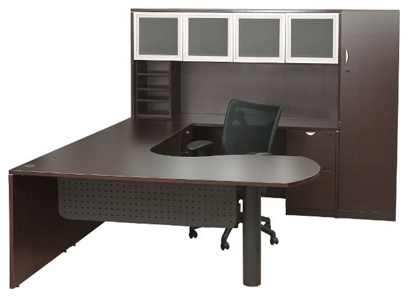 The New Express Laminate U Shape W/ Glass Hutch Is A Great Addition To Any  Office. Click The Link To Learn More About This And Our Other Great Office  ...