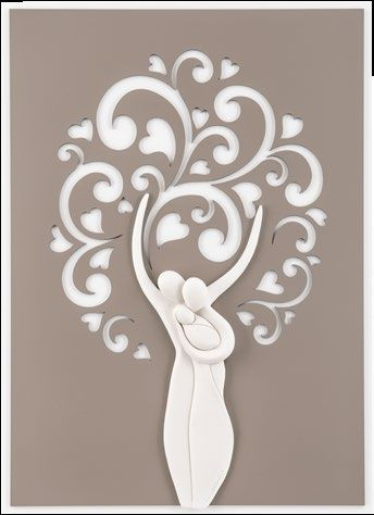 Quadro albero della vita moderno family traforato tortora for Albero della vita da stampare e colorare