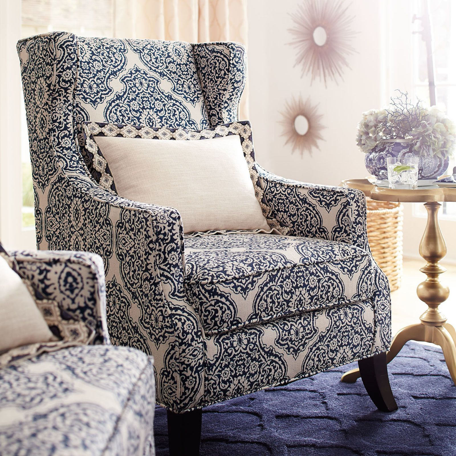 alec wing chair drafting chairs indigo blue just a pinterest