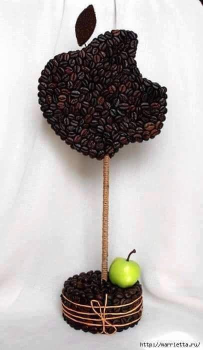 Usa granos de caf para crear diversas manualidades muy fciles de