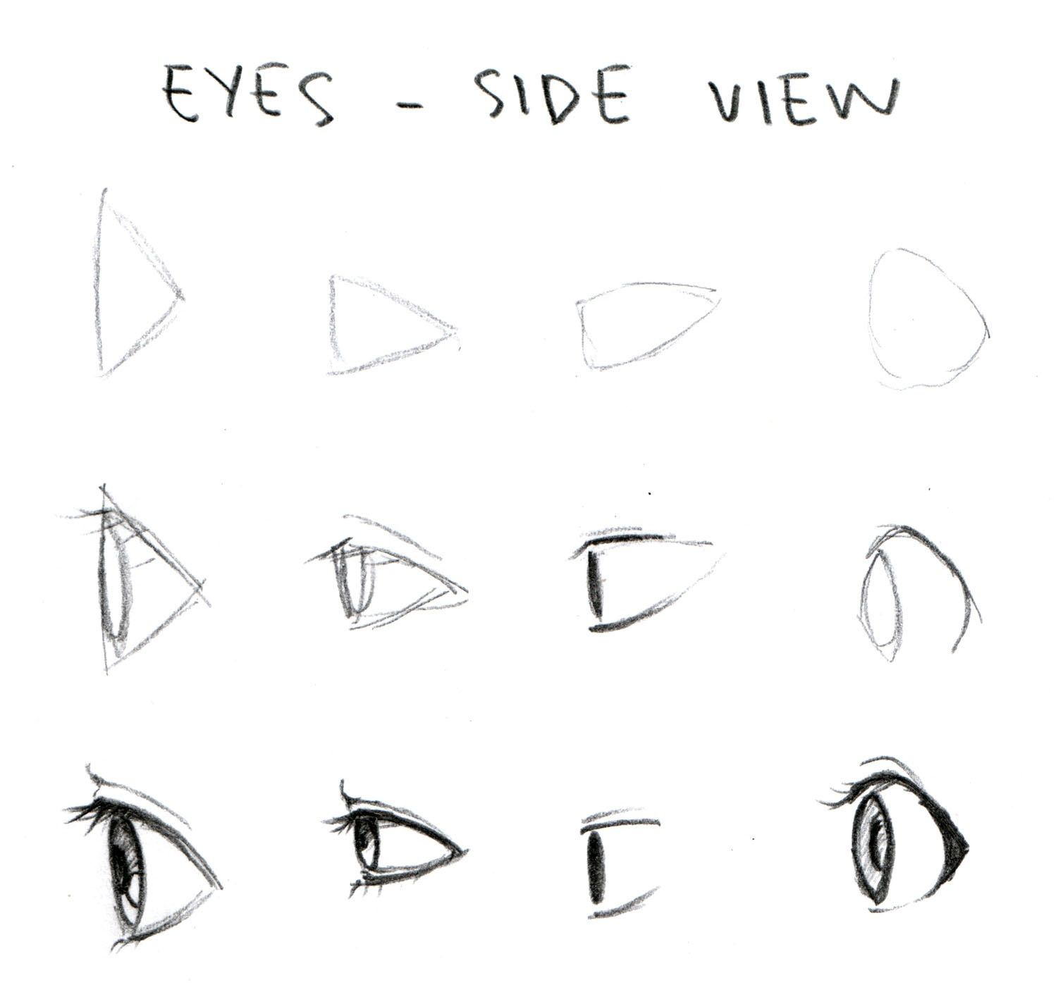 Manga eyes side view drawing tips drawing techniques drawing reference drawing tutorials