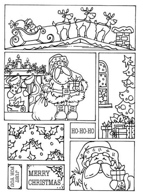 Santa Coloring Pages For Merry Christmas   Раскраски ...
