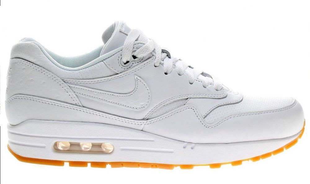 en soldes c8176 87563 Nike Air Max 1 Premium Ostrich leather WHITE Mens Size 7 ...