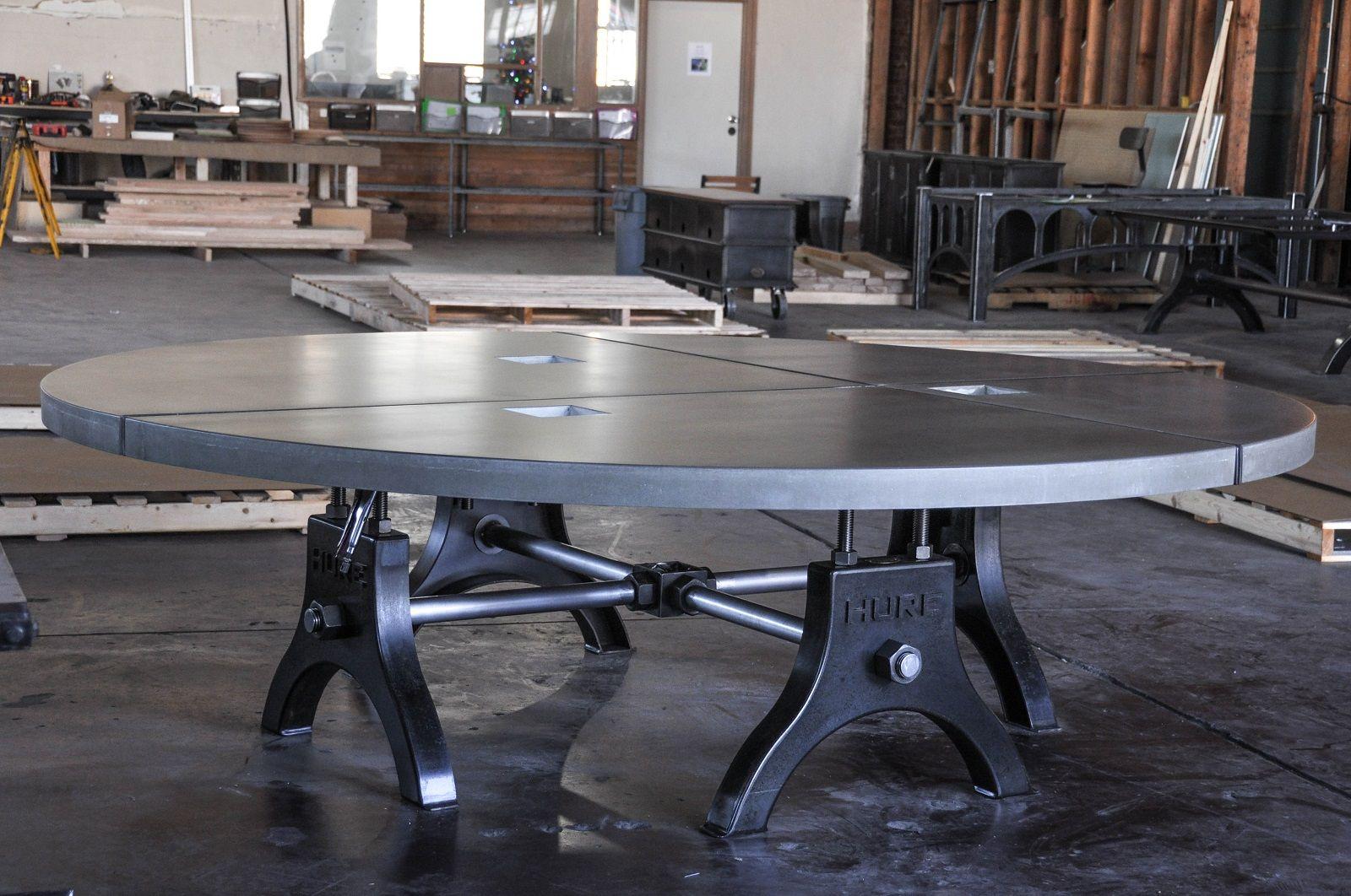 Post industrial conference table vintage industrial furniture - Hure Table Gallery Vintage Industrial Furniture