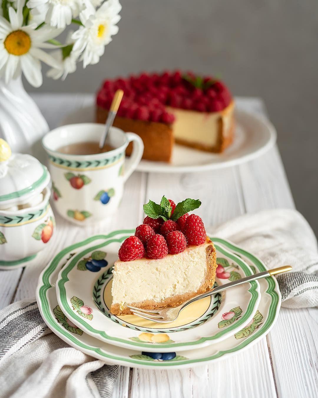 Открытки с добрым утром с чаем и пирожными