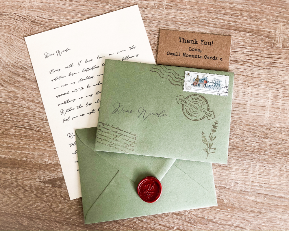 Vintage Green Love Letter Wax Sealed Envelope Handmade Etsy In 2020 Birthday Gifts For Boyfriend Cards Handmade Types Of Lettering