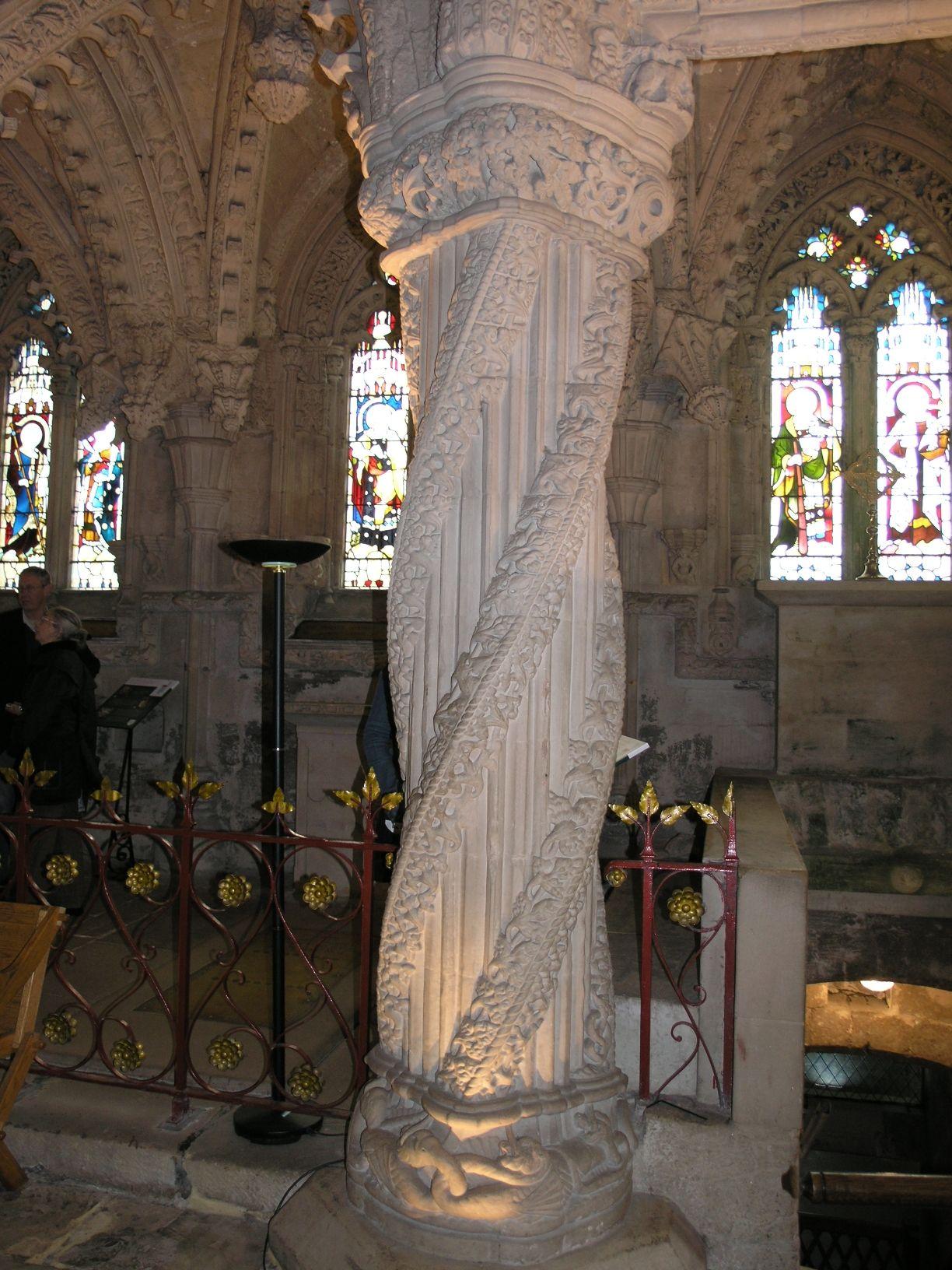 The Apprentice Column, Rosslyn Chapel Pillars & Columns