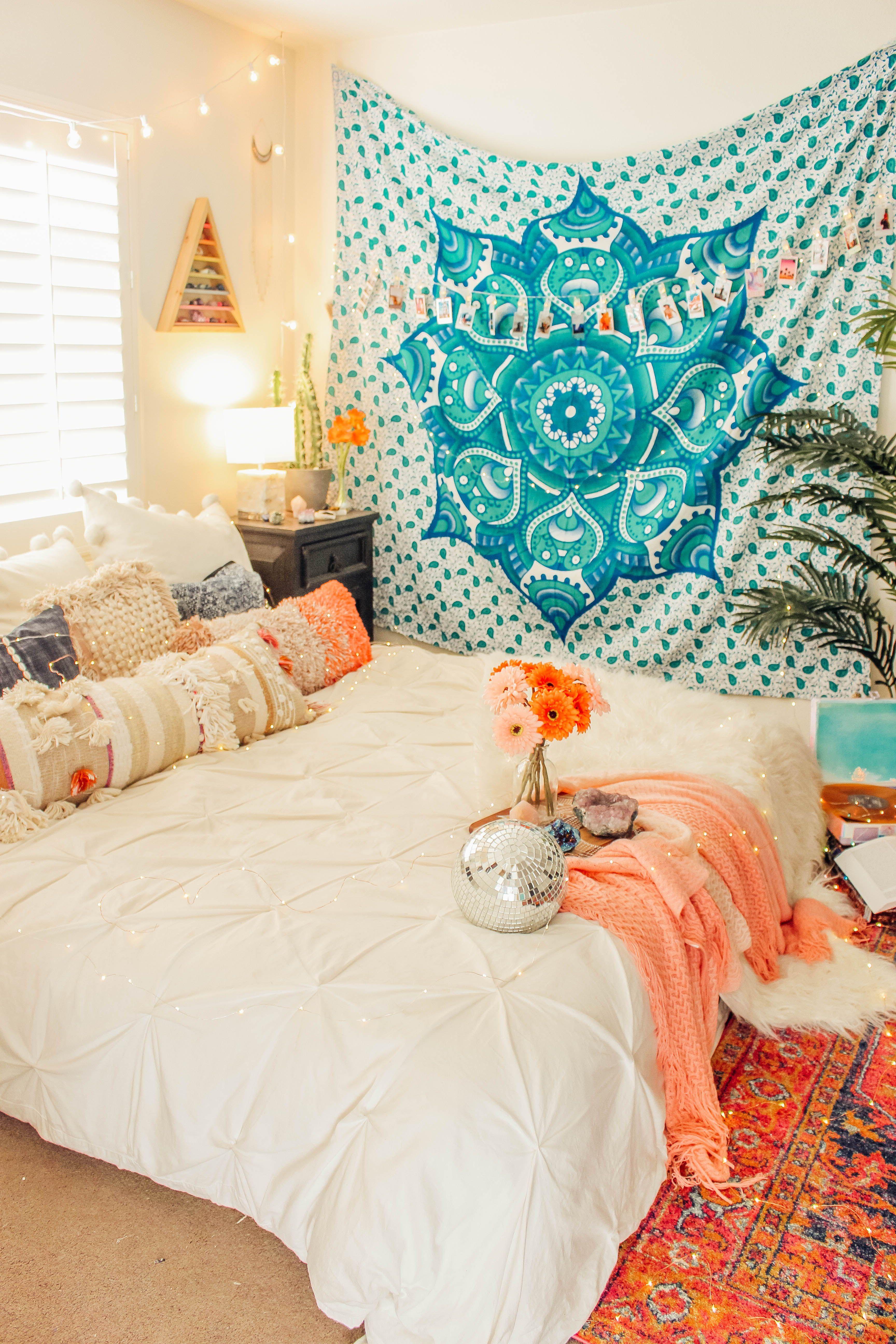 P I N T E R E S T Maggie875 Bohemian Style Decor Bedroom Room Ideas Bedroom Bed Decor