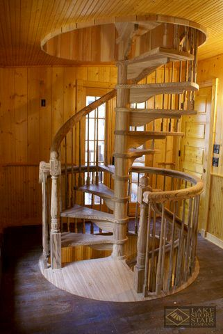 Best Rustic Spiral Staircase Made With Zebra Wood 400 x 300