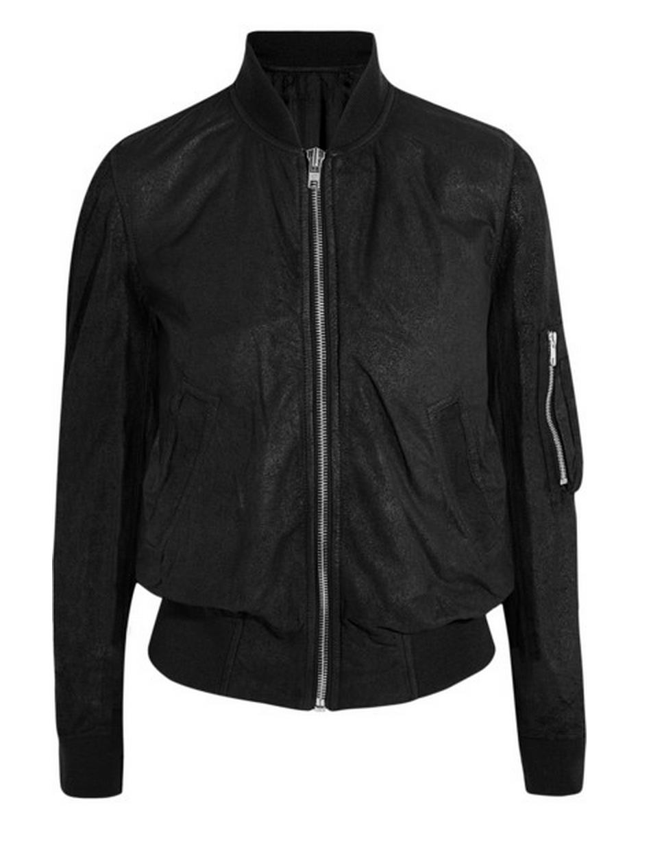 RICK OWENS Brushedleather bomber jacket Leather bomber
