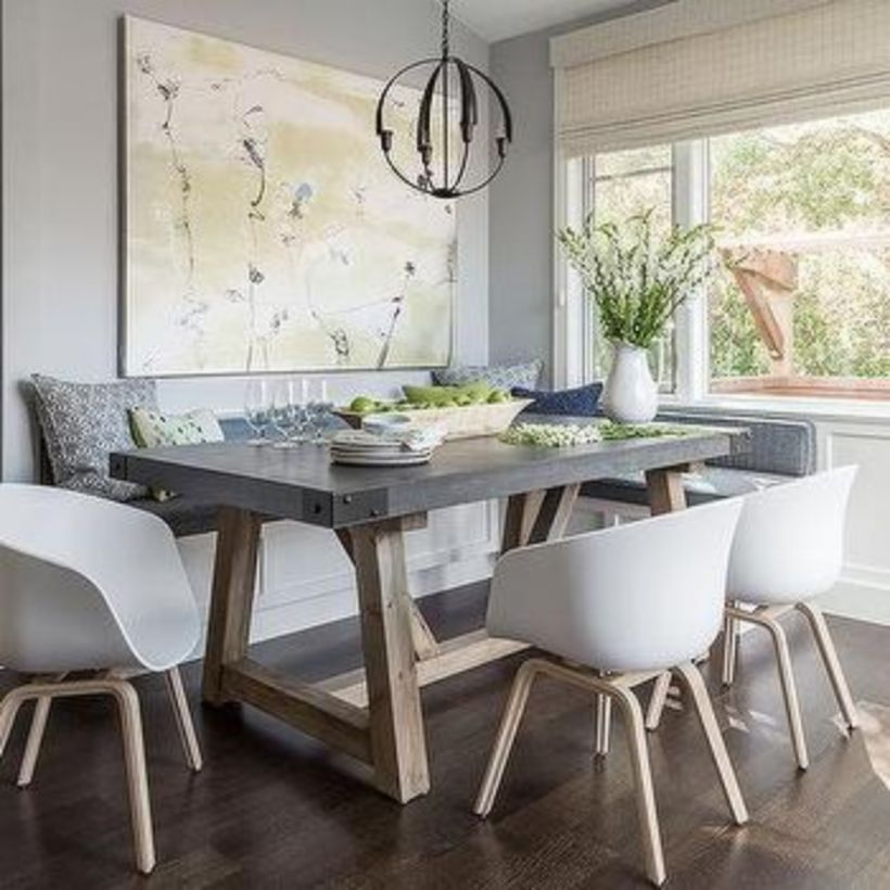 47 Beautiful Beach Themed Dining Room Ideas Wood Floor Dining