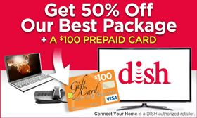 When you use your Abenity Discount Program to sign up with Dish Network, you'll get the best price on programming, free installation, free whole-home DVR upgrades, and a $100 prepaid Visa gift card. http://discounts.abenity.com/perks/offer/1:1489