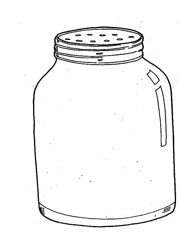 Pepper Jar Coloring Pages Bulk Color