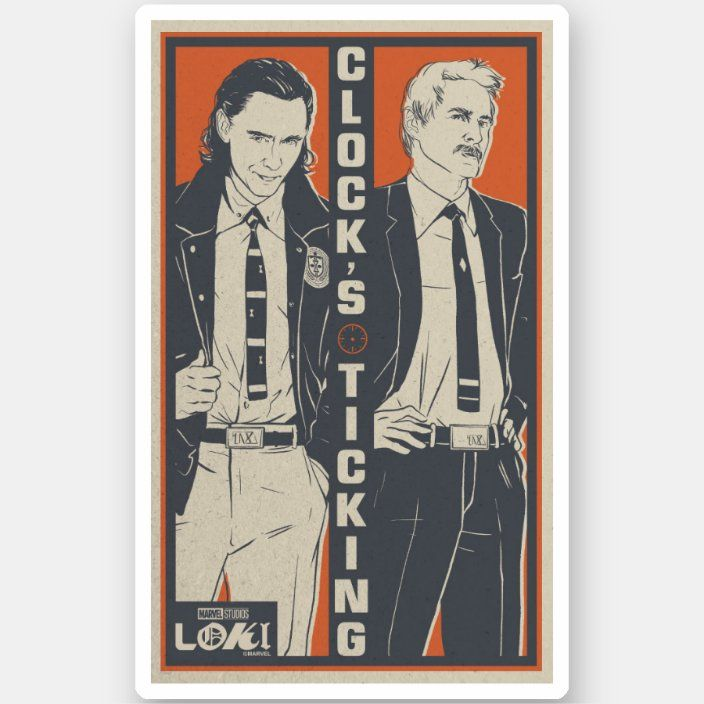 Loki & Mobius - Clock's Ticking Sticker