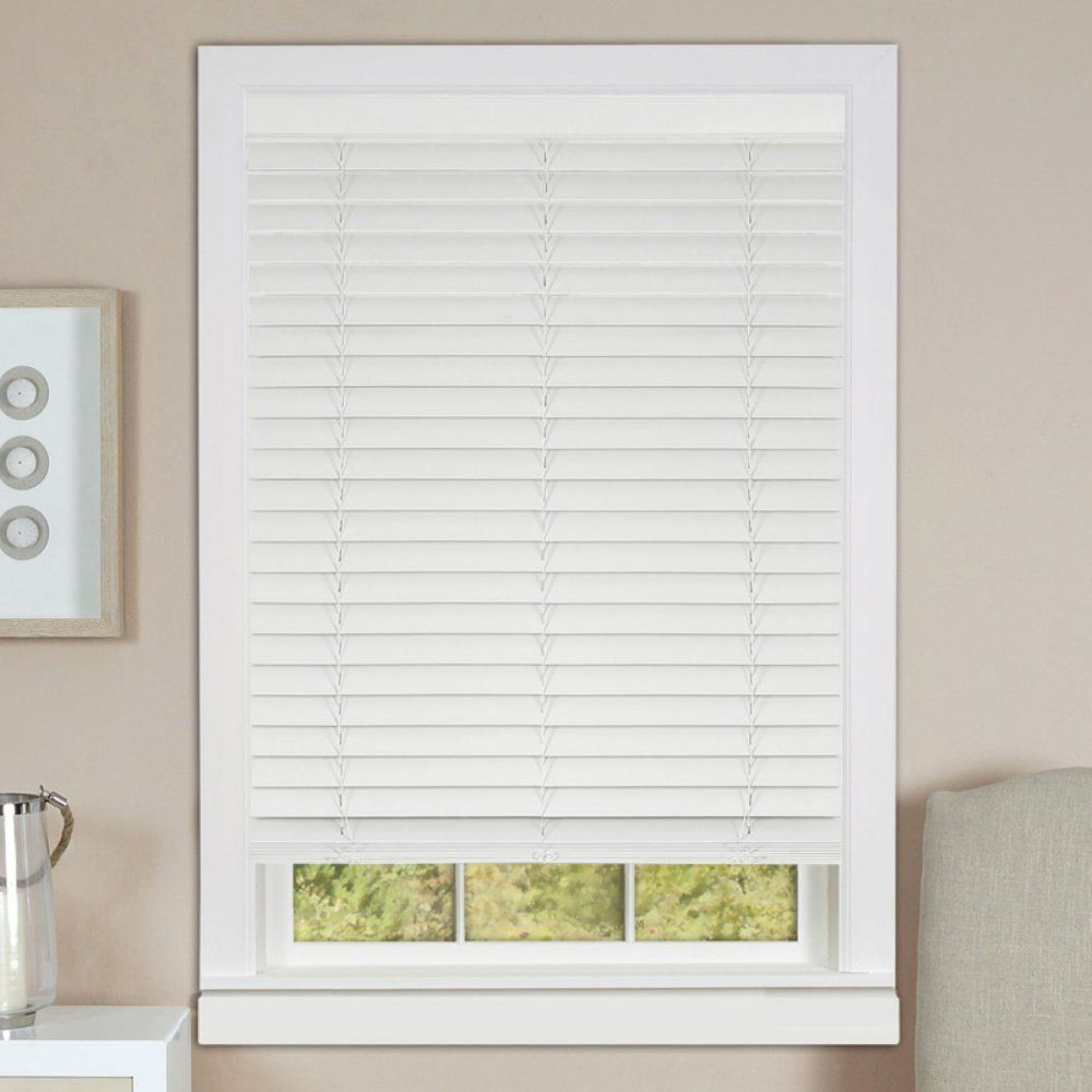 Achim Cordless Madera Falsa 2 in. Faux Wood Plantation Blind - With ...