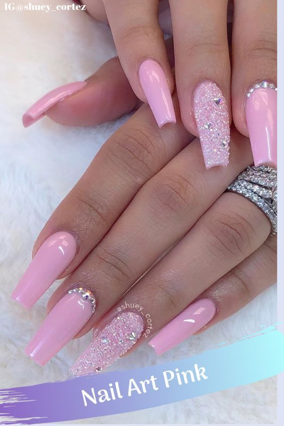 Nail Design 2020 Nails Ideas For 2020 In 2020 Pink Acrylic Nails Cute Pink Nails Hot Pink Nails