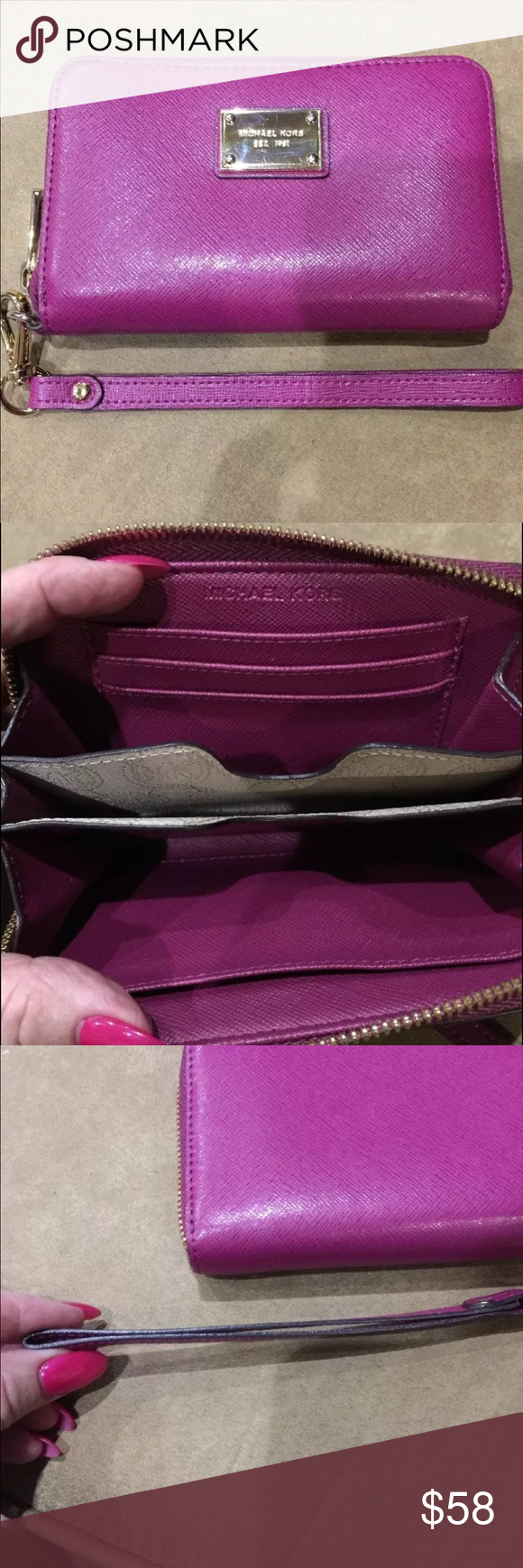 Michael Kors Wristlet In excellent condition. Michael Kors Bags Clutches & Wristlets