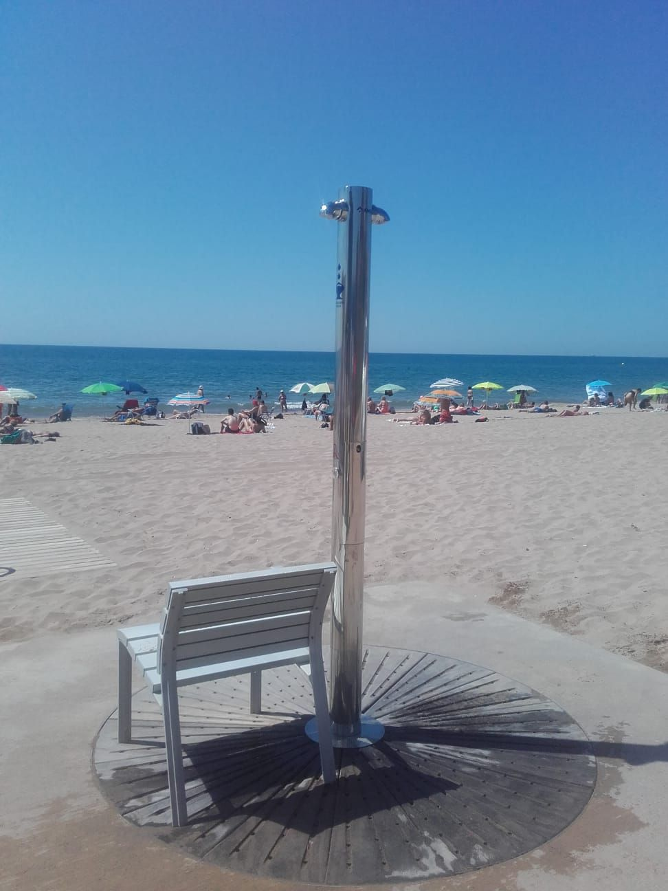 Stern Anti Vandal Shower Kit Installed at a Public Beach | Stern ...