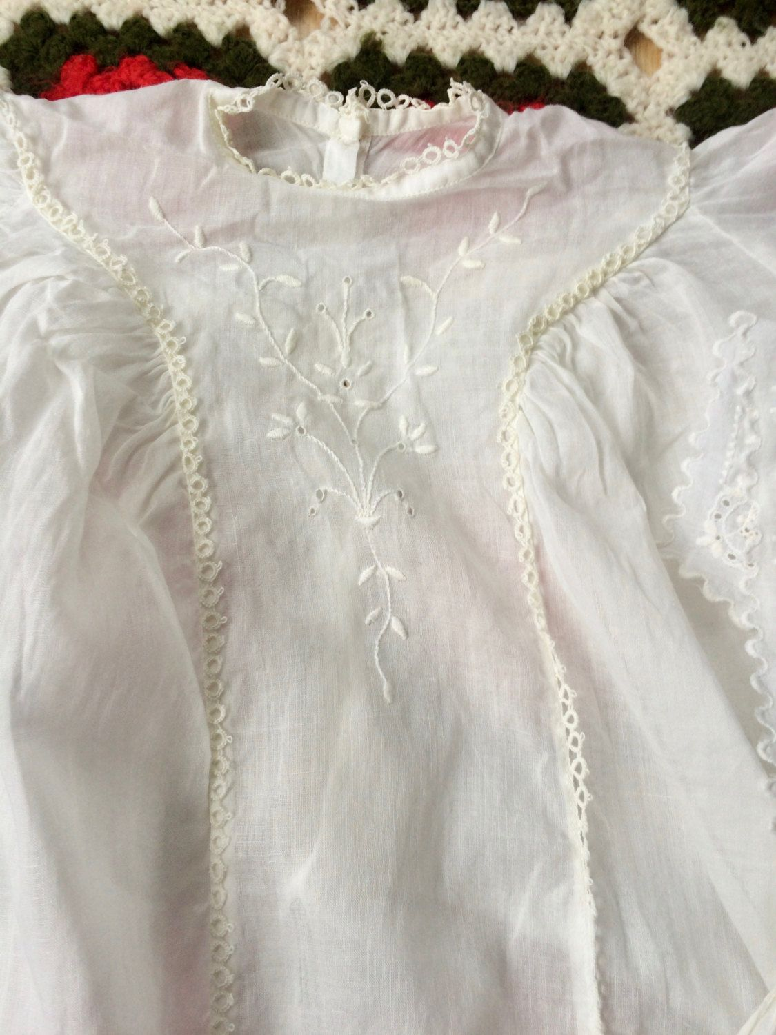 S baby gown u bonnet by lishyloo on etsy vintage kids clothing