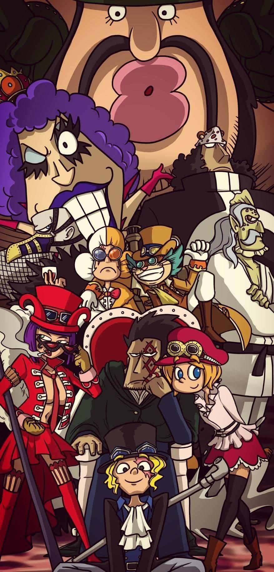 One Piece Crew Android Wallpaper (Dengan gambar) Revolusi
