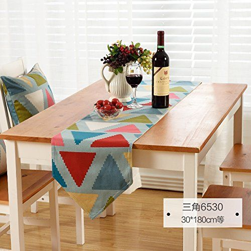 American Printing Gift Stripes European Pastoral Style Table Runner Tv Cabinet Table Runner D 30X180Cm