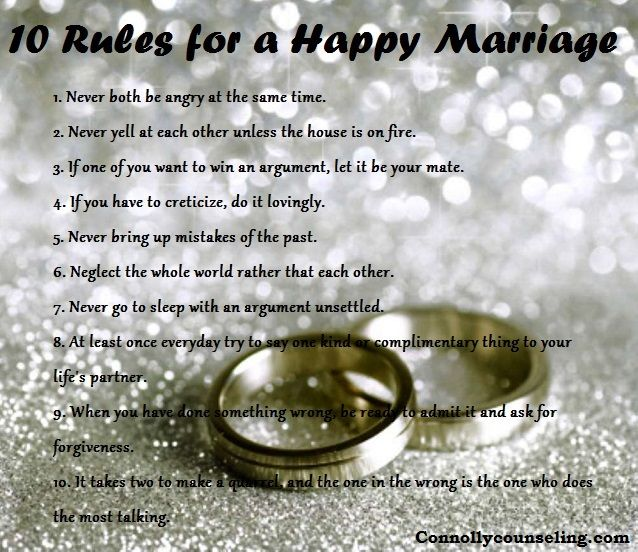 10 Rules For A #happy #marriage #quotes #love #couples
