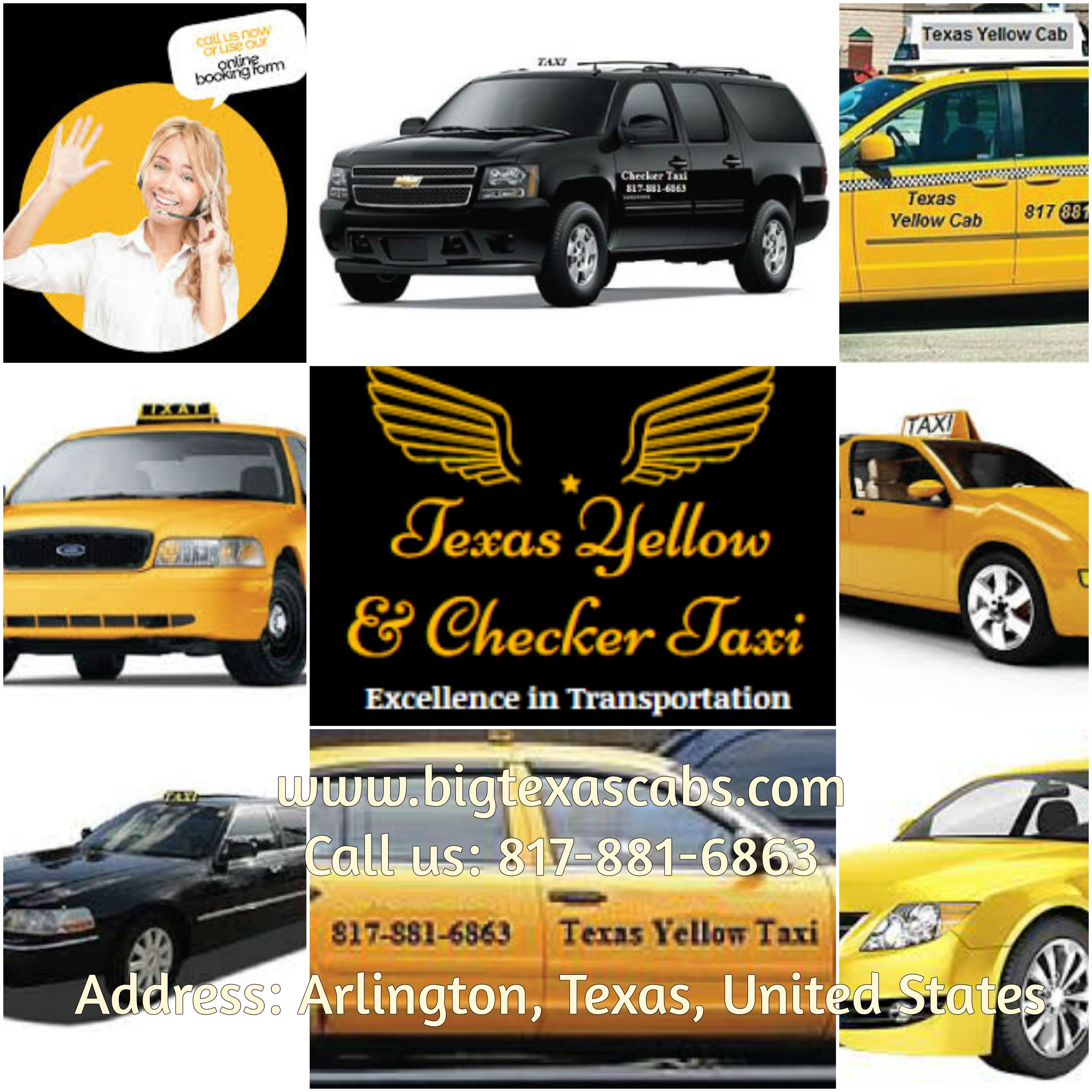 we the big texas cabs propose the vest yellow cab at arlington tx