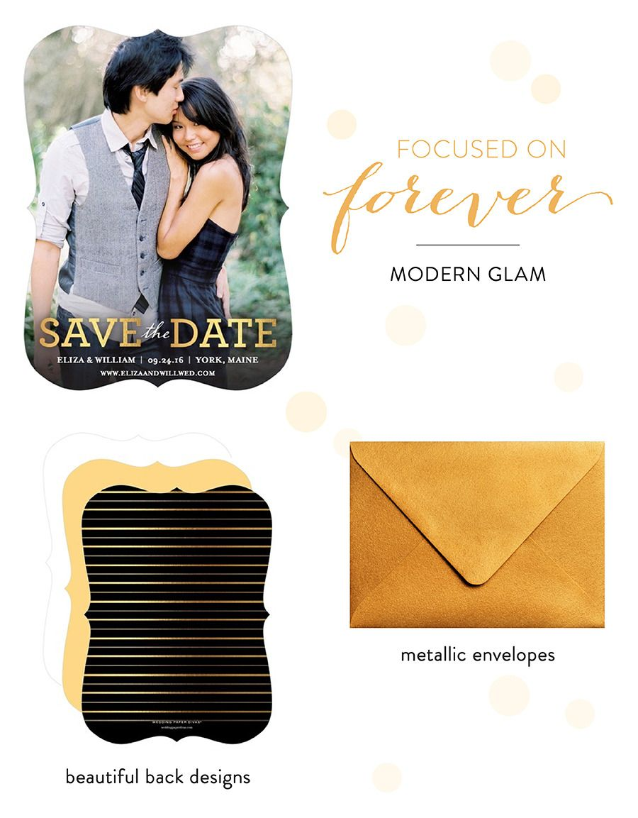 Save-the-Date in Style with Wedding Paper Divas | Wedding ...