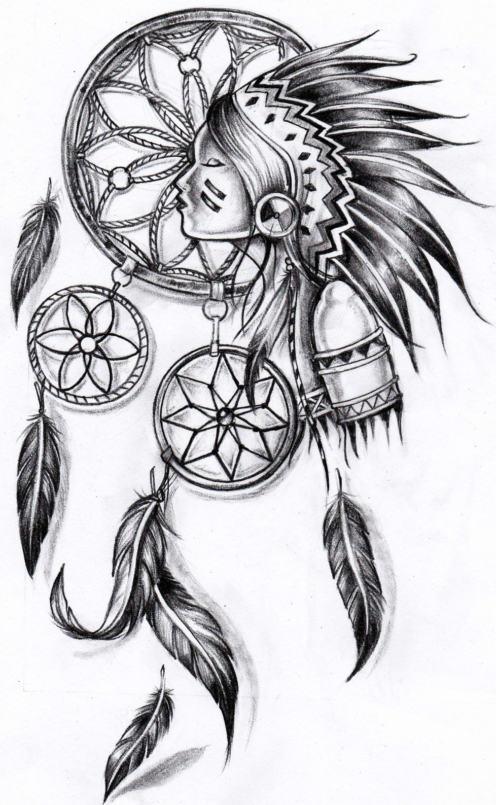 Attrape reve dessin google idee tatoo pinterest - Tatouage attrape reve homme ...