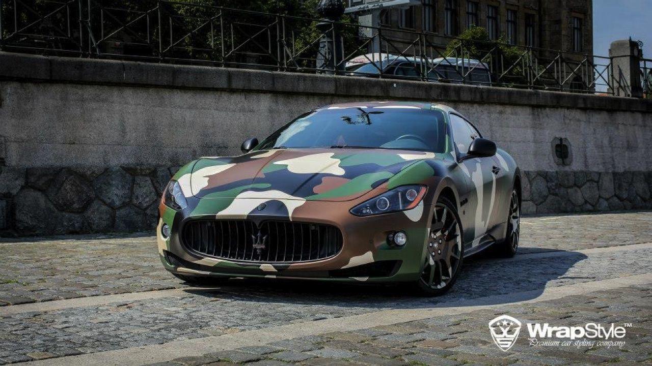 High Quality Camo Maserati GranTurismo S WrapStyle