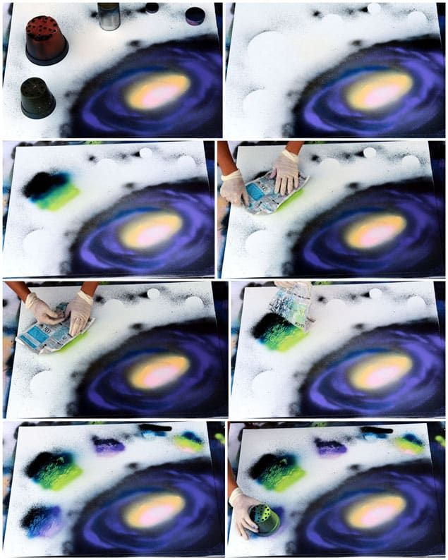 How to Spray Paint Art: Planets & Galaxy | Spray paint art ...