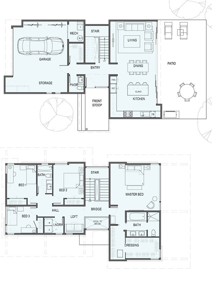 Sd225 For Tight Urban Lots Stillwater Dwellings Unique House Plans Floor Plans Prefab Homes