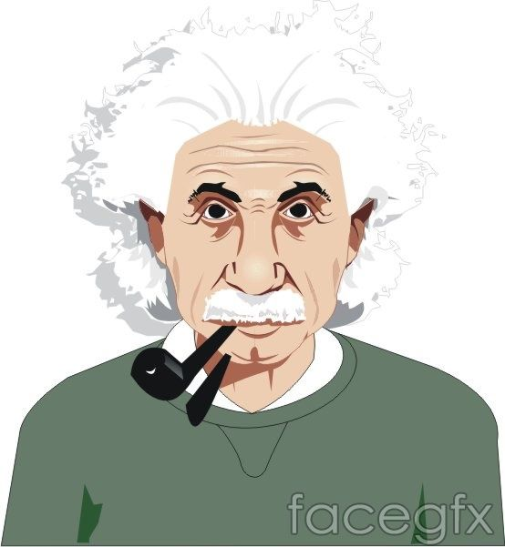 Vector Character Vector Scientist Albert Einstein Ai Format Vector Character Graphic Design Posters Vector Portrait
