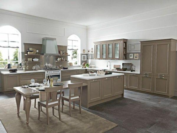 Cuisine taupe avec plan de travail blanc cuisine for Cuisine design taupe