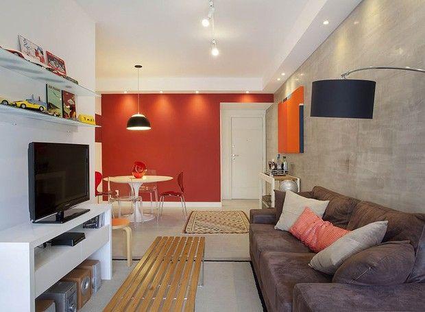Funcional e moderno apartamento decorado em apenas 65 m for Sala de estar funcional