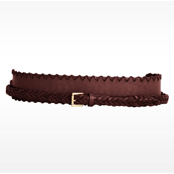 Linea Pelle Bo Leather Braided Sash Belt ($141) ❤ liked on Polyvore